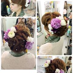 ヘアアレンジ パーティ アップスタイル ルーズ ヘアスタイルや髪型の写真・画像
