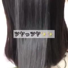 美髪 ツヤ髪 縮毛矯正 ロング ヘアスタイルや髪型の写真・画像