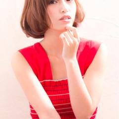 アウトドア ボブ オフィス フェミニン ヘアスタイルや髪型の写真・画像