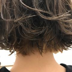 ハイライト ワンレングス ストリート ボブ ヘアスタイルや髪型の写真・画像