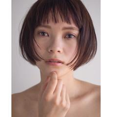 モード オン眉 色気 ボブ ヘアスタイルや髪型の写真・画像
