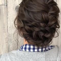 セミロング パーティ ママ 結婚式 ヘアスタイルや髪型の写真・画像
