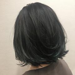 外ハネ 上品 ハイライト ボブ ヘアスタイルや髪型の写真・画像