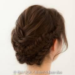 ヘアアレンジ ロング アップスタイル 結婚式 ヘアスタイルや髪型の写真・画像