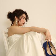 簡単ヘアアレンジ 結婚式ヘアアレンジ 紐アレンジ ロング ヘアスタイルや髪型の写真・画像