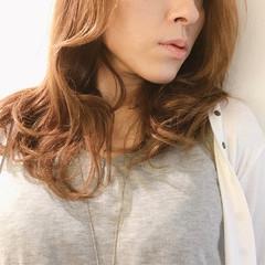 オフィス ロング ナチュラル ヘアアレンジ ヘアスタイルや髪型の写真・画像