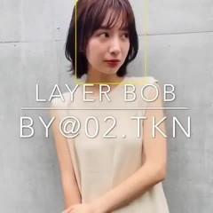 ひし形シルエット コンサバ 似合わせカット デジタルパーマ ヘアスタイルや髪型の写真・画像