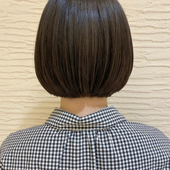 ナチュラル ミニボブ モテボブ まとまるボブ ヘアスタイルや髪型の写真・画像