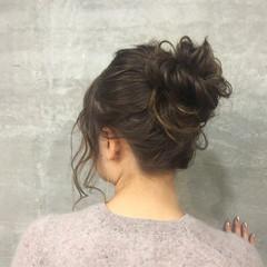 くせ毛風 大人かわいい ヘアアレンジ グラデーションカラー ヘアスタイルや髪型の写真・画像