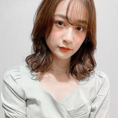 ナチュラル デジタルパーマ ゆるふわパーマ レイヤーカット ヘアスタイルや髪型の写真・画像