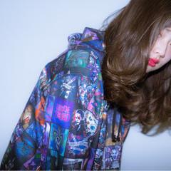 外国人風 セミロング 外国人風カラー デート ヘアスタイルや髪型の写真・画像