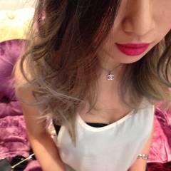 アッシュ セミロング 黒髪 トレンド ヘアスタイルや髪型の写真・画像