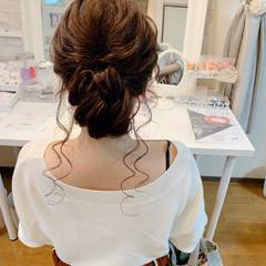 エレガント ヘアアレンジ ロング 簡単ヘアアレンジ ヘアスタイルや髪型の写真・画像