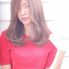 ミディアム ナチュラル ゆるふわ 外国人風 ヘアスタイルや髪型の写真・画像