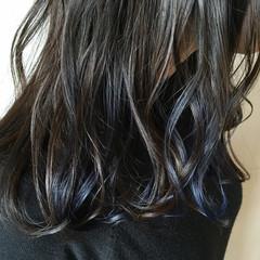 デート ストリート セミロング インナーカラー ヘアスタイルや髪型の写真・画像