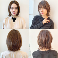 パーマ モード デート ボブ ヘアスタイルや髪型の写真・画像