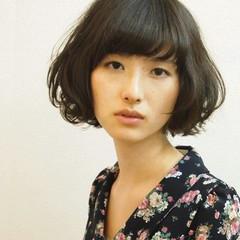 大人かわいい コンサバ 黒髪 パーマ ヘアスタイルや髪型の写真・画像