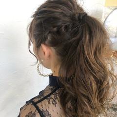 ゆるふわセット 簡単ヘアアレンジ ロング 結婚式 ヘアスタイルや髪型の写真・画像