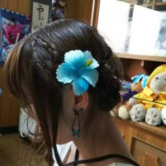 夏 アップスタイル 花火大会 お祭り ヘアスタイルや髪型の写真・画像
