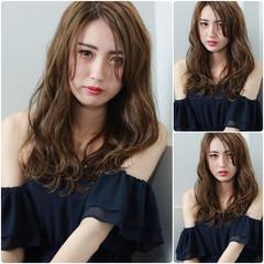 外国人風 セミロング デート パーマ ヘアスタイルや髪型の写真・画像