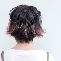ブリーチ グラデーションカラー 簡単ヘアアレンジ ストリート ヘアスタイルや髪型の写真・画像
