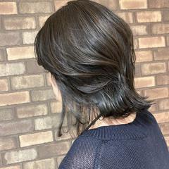 ミディアム 艶髪 N.オイル ナチュラル ヘアスタイルや髪型の写真・画像