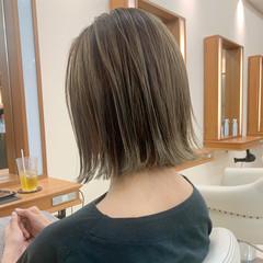 ナチュラル ミニボブ レイヤーボブ 外ハネボブ ヘアスタイルや髪型の写真・画像