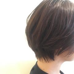 透明感 ウェットヘア 前下がり ショート ヘアスタイルや髪型の写真・画像