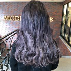 外国人風カラー 暗髪 ミディアム ストリート ヘアスタイルや髪型の写真・画像