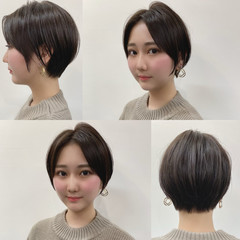 ハンサムショート 大人ショート ナチュラル ショートヘア ヘアスタイルや髪型の写真・画像