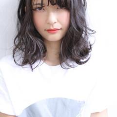 アッシュ ストリート 暗髪 黒髪 ヘアスタイルや髪型の写真・画像