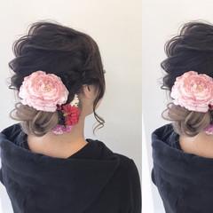 ヘアアレンジ 秋 結婚式 夏 ヘアスタイルや髪型の写真・画像