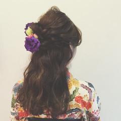 ショート 大人かわいい ヘアアレンジ ハーフアップ ヘアスタイルや髪型の写真・画像