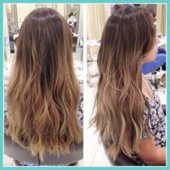パンク グラデーションカラー ストリート ロング ヘアスタイルや髪型の写真・画像