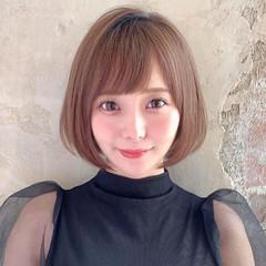 ショートボブ モテ髪 ナチュラル ボブ ヘアスタイルや髪型の写真・画像