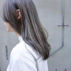 くすみカラー 透明感 透明感カラー ナチュラル ヘアスタイルや髪型の写真・画像
