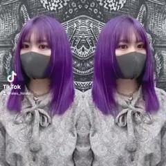 ミディアム インナーカラー 韓国ヘア モード ヘアスタイルや髪型の写真・画像