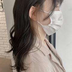 韓国ヘア 透明感カラー ミルクティーベージュ ベージュ ヘアスタイルや髪型の写真・画像