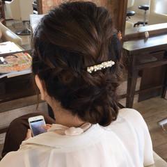 波ウェーブ 三つ編み ヘアアレンジ セミロング ヘアスタイルや髪型の写真・画像