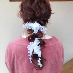 結婚式アレンジ 結婚式ヘアアレンジ ナチュラル 卒業式 ヘアスタイルや髪型の写真・画像