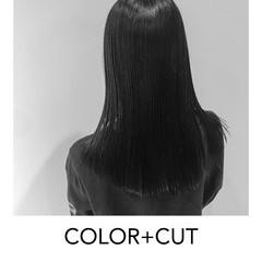 ナチュラル インナーカラーグレージュ ロング ブリーチオンカラー ヘアスタイルや髪型の写真・画像
