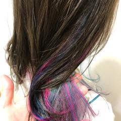 ミディアム ストリート インナーカラー スポーツ ヘアスタイルや髪型の写真・画像