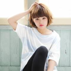 モテ髪 ガーリー ボブ フェミニン ヘアスタイルや髪型の写真・画像