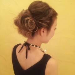 フェミニン ヘアアレンジ ロング パーティ ヘアスタイルや髪型の写真・画像