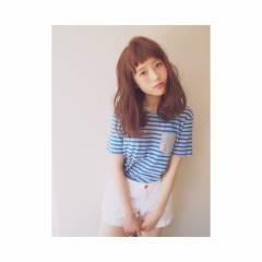 夏 モテ髪 ミディアム ゆるふわ ヘアスタイルや髪型の写真・画像