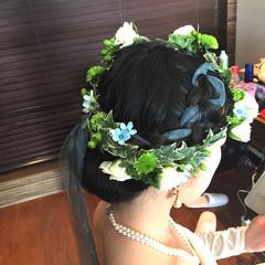 ヘアアレンジ 結婚式 ブライダル ロング ヘアスタイルや髪型の写真・画像