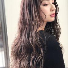 グレージュ ヘアアレンジ 透明感 女子力 ヘアスタイルや髪型の写真・画像