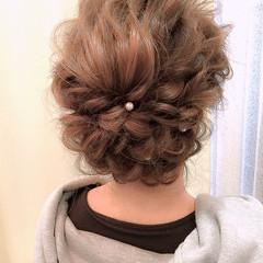 ヘアアレンジ ロング 大人かわいい 編み込み ヘアスタイルや髪型の写真・画像
