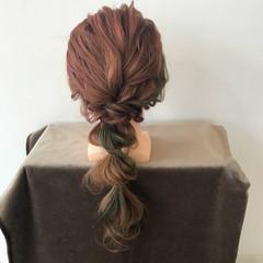 ヘアアレンジ フェミニン 大人かわいい 編み込み ヘアスタイルや髪型の写真・画像