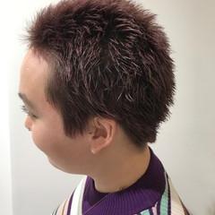 ラベンダーピンク ストリート ショート ピンクアッシュ ヘアスタイルや髪型の写真・画像